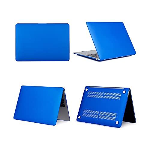 Funda para portátil Air 13 A2337 A2179 2020 A2338 M1 Chip Pro 13 12 11 15 A2289 Nueva Touch Bar para Pro 16 A2141 Case Matte Dark Blue-2019 Air 13 A1932