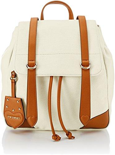 Twinset Milano Os8tad - Bolso tipo mochila para mujer, 11 x 35 x 20 cm (ancho x alto x largo) Beige Size: 11x35x20 cm (W x H x L)