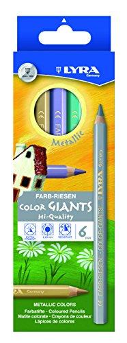 LYRA Farb-Riesen metallic Kartonetui mit 6 Farbstiften, Sortiert