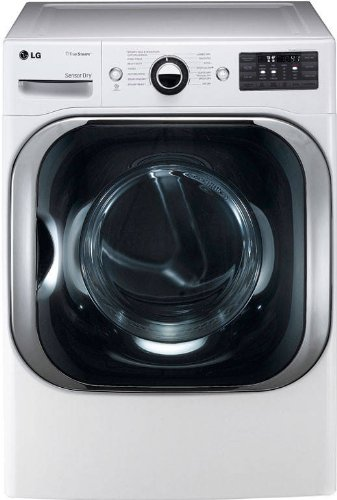 LG DLEX8000W 9.0 Cu. Ft. Mega Capacity Electric Dryer with Steam Technology – White