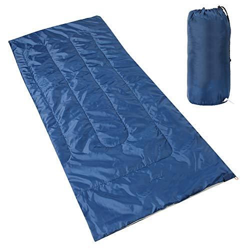 Weikeya Saco de dormir ligero de compresión, materiales de calidad, poliéster, seda y algodón hueco, 190 x 75 x 5 cm
