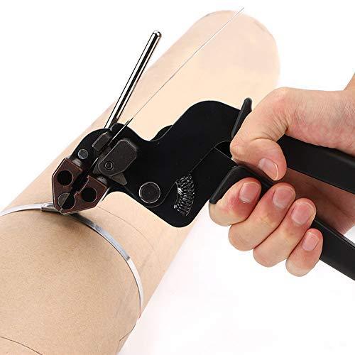 Kabelbinderpistole aus Edelstahl, Kabelbinderzange Kabelbinderwerkzeug, Einstellbare Spannung, für selbstsichernde Edelstahlkabelbinder, Leiter-Edelstahlkabelbinder