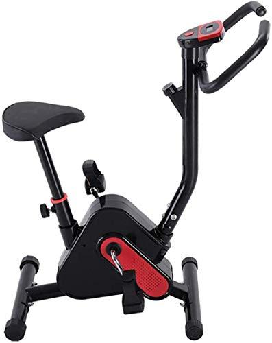 Bicicleta estática vertical de interior con cinturón de seguridad ajustable para dormitorio, sala de estar, entrenamiento cardiovascular