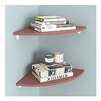 本棚 2つのコーナーの壁の棚のセットのセットバスルーム、寝室、リビングルーム、キッチン、オフィスなどのための壁掛けの収納ラック棚壁の収納ラック オフィス用収納ラック棚 (Size : 30cm)