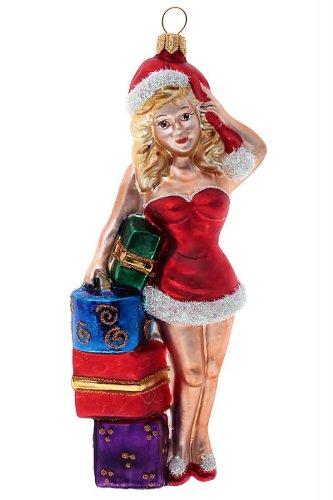Hamburger Weihnachtskontor - Tannenbaumschmuck aus Glas -Weihnachtsfrau