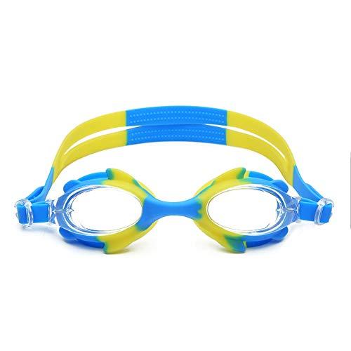 JUANJUAN siliconen zwembril voor kinderen goede kwaliteit HD-anti-condens-functie met geïntegreerde, kleurrijke zwembril