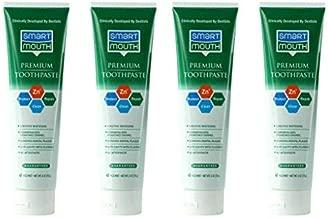 SmartMouth Premium Zinc Ion Toothpaste, Helps with Cavity, Enamel & Plaque, Mild Mint, 6 oz, 4 Pack