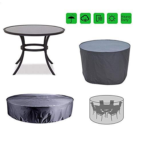 YYQIANG - Funda para muebles de exterior con hebilla de cordón, resistente al agua, para sillas de mesa rectangulares ovaladas, Tejido Oxford, 185*110CM