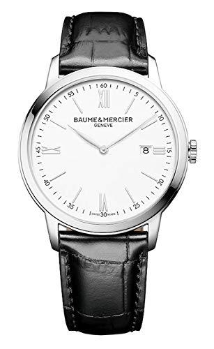 Baume et Mercier 10414 - Reloj para Hombre, Esfera Blanca Classima