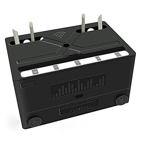 ESGT WiFi Router Organizar Caja Decodificador Rack Panel de Conexión Estante de...