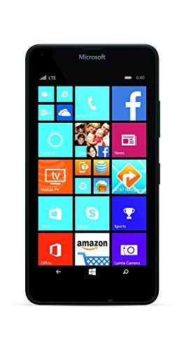 Microsoft Nokia Lumia 640 LTE RM-1072 8GB 5' Unlocked GSM Windows 8MP Camera Smartphone - Black - International Version No Warranty