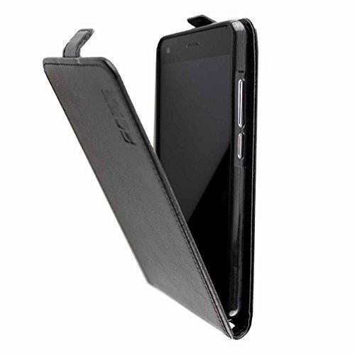 caseroxx Flip Cover für Archos 50f Helium Lite, Tasche (Flip Cover in schwarz)