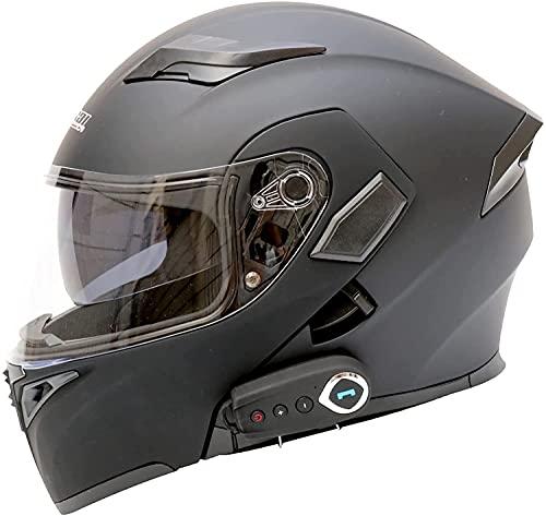 Casco Plegable Delantero Con Bluetooth Para Motocicleta, Aprobado Por ECE, Scooter Ligero Para Motocicleta, Casco Modular De Choque De Bicicleta De Calle, Cascos De Motocross Para Jóvenes E,XL