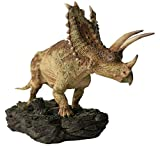 1/35 Pentaceratops Statue with Base Ceratopsidae Dinosaur Figure Ceratops Realistic Resin Animal Model Toys Collector Decor Gift for Adult GK (Painted)