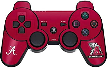 Skinit Decal Gaming Skin for PS3 Dual Shock Wireless Controller - Officially Licensed College Alabama Crimson Tide Red Logo Design