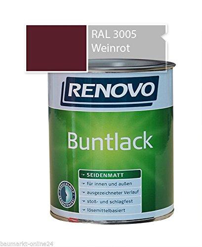 Buntlack 750 ml RAL 3005 Weinrot Seidenmatt Renovo