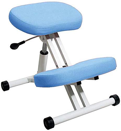 Knee ergonomischer Stuhl, kann der Sitz verstellbar Knie Orthopädische Kniehaltung Metallstuhlsitz, verbesserte Haltung, Verhinderung von Myopie,Blue