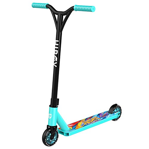 Hiboy ST-1S Pro Scooter - Trick Scooters - 110mm Aluminum Core Wheels & ABEC-9 - Intermediate and Beginner Stunt Scooter - Freestyle Kick Scooter for Kids, Teens, and Adults (Teal)