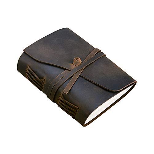 XINGYUE Bloc de notas de viaje, cuadernos de cuero, cuaderno de viaje hecho a mano, cuaderno de cuero vintage encuadernado para hombres y mujeres, diario de viaje sin forro