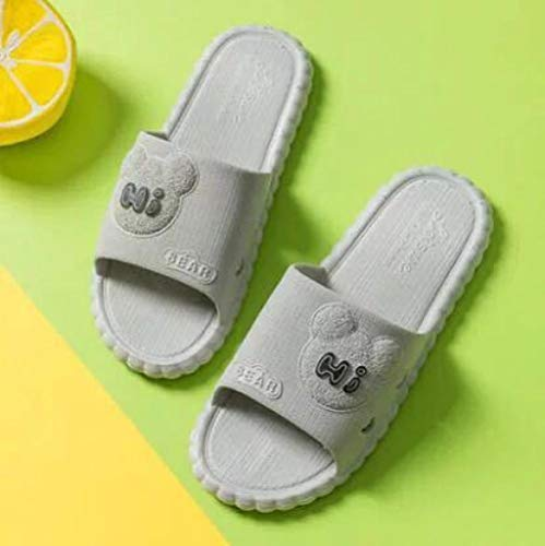 YYFF Zapatillas Flip Flops Sandal,Morbidi Sandali da bagno,pantofole antiscivolo-Grigio_42-43,Hombre Chanclas Suela