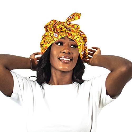 Sunset – Gorra / turbante con interior de satén / Headwrap indispensable para cuidados capilares y peinados protectores para todo tipo de cabello (fro/rizado, liso y Locks) (Vanity)