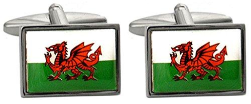 Boutons de manchette fantaisie motif dragon gallois
