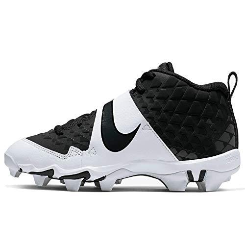 Nike Kids' Force Trout 6 Keystone Baseball Cleats (Black/White, Numeric_6)