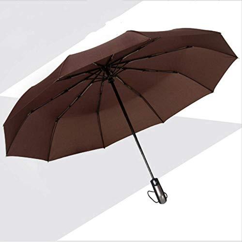 ZPF ParaguasResistente Al Viento Tres Plegable Automático Paraguas Lluvia Mujeres Auto Grandes...