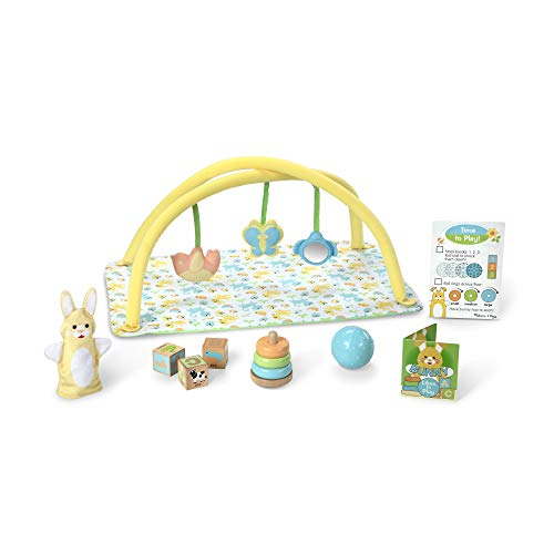 Image of Melissa & Doug Mine to Love Toy Time Play Set for Dolls (16 Pieces, Activity Gym, Stacker, Blocks, More, Great Gift for Girls and Boys - Best for Babies and Toddlers, 4 Month Olds, 1 and 2 Year Olds)