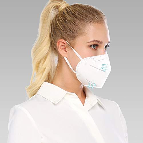 Atemschutz Maske Mundschutz Mund und Nasenschutz Atemmaske mit eingenähtem Nasenclip Sicherheitsschutz DE Stock (10)