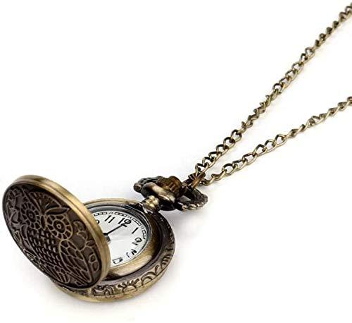 Pocket Horloge Gepersonaliseerde Bronzen Ketting Ronde Wijzerplaat Horloge Pocket Horloges met Ketting voor Familie en Vrienden Gift wxxdlooa Brons