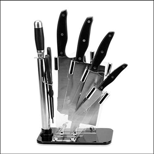 ZHANMAGS Bloque Universal para Cuchillos Bloque del Soporte de Cuchillo acrílico sin Cuchillos para el Restaurante de la Cocina, Estante de la Caja de la Cuchilla de encimera 0416