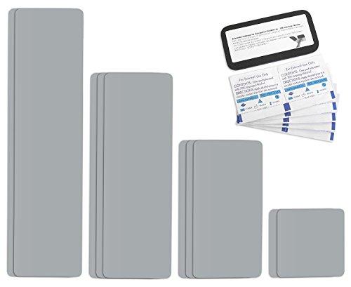 Selbstklebende Planenreparatur Tapes | 10 teilig | Easy Patch Comfort 100mm | Für Zelte, Planen uvm. | Silber RAL 9006