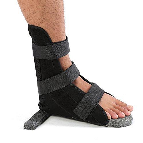 Férula para ortesis dorsal, protector de pierna para adultos, protector de tobillo, suave y cómodo, soporte dorsal, férula nocturna, ortesis para pies, férula plantar, para mujeres y hombres(L)