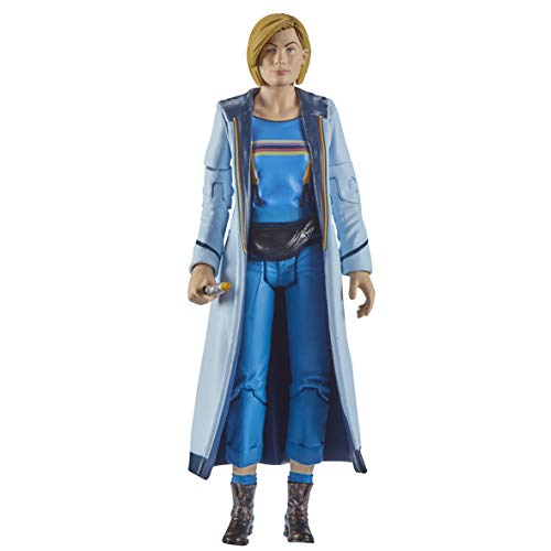 """Doctor Who 13th Doctor Action Figure (Blue Top) Includes Sonic Screwdriver and Bag Accessories - Jodie Whittaker Doctor Who Merchandise - Character Options - 5.5"""""""