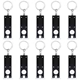 Uniclife Mini Keychain Flashlight,10 Pack Portable Ultra bright Little LED Light with Key Ring, Black