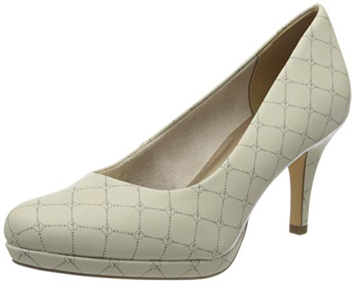 Tamaris Damen 1-1-22444-24 Pumps, Beige (Cream/Logo 433), 38 EU
