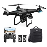 Holy Stone HS120D GPS Drone with Camera for Adults 2K UHD FPV, Quadcotper with Auto Return Home, Follow Me, Altitude Hold, Tap Fly Functions, Includes 2 Batteries and Carrying Backpack