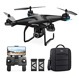Holy Stone HS120D GPS Drone with Camera for Adults 2K UHD FPV, Quadcotper with Auto Return Home, Follow Me, Altitude… 2 Built for Adventure: The specially designed backpack can carry everything for HS120D, allows you to take this drone anywhere, incredibly convenient for travel and outdoor 2K UHD 120° FOV Adjustable FPV Camera: Capture high definition footage ( 2048*1152p) and directly save to your smartphone; Gesture Control: pose to the camera, you can take automatically generated photos and videos, share it instantly with friends on social media. Smarter Return Home: GPS assisted flight, it can perform automatically return home when the drone lost signal, out of range or low power, never have to worry about flying it away