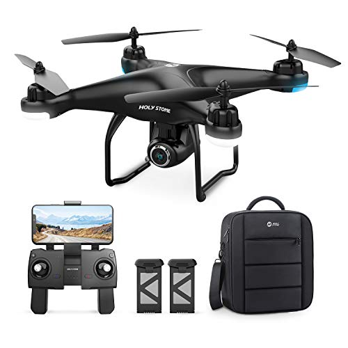 Holy Stone HS120D GPS Drone with Camera for Adults 2K UHD 1080p FPV, Quadcotper with Auto Return Home, Follow Me, Altitude Hold, Tap Fly Functions, Includes 2 Batteries and Carrying Backpack