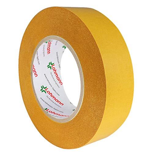 Lohmann Duplocoll 810 | Doppelseitiges Klebeband | Transparent | Starke Haftung auf vielen Materialien | Verschiedene Breiten | 50 m auf Rolle