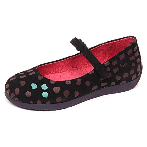 CAMPER E2342 Ballerina Bimba Black/Purple Twins Scarpe Shoe Baby Kid Girl [31]