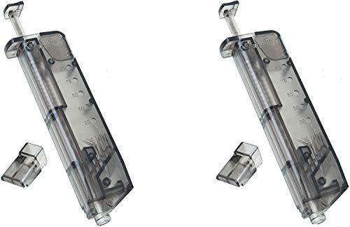 KS-11 2X Speedloader passend für 90 Kugeln 6mm BB incl. Pistolen Adapter für schnelles u. sicheres Nachladen von Premium Airsoft Munition - Softair zubehör