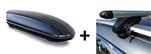 Dachbox 320 Liter Relingträger Alu kompatibel mit VW Golf V Variant 1K 07-10 abschließbar