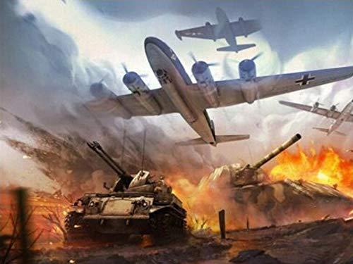 1000 piezas de rompecabezas, tanques de aviones de guerra, de madera, personalizables (75 * 50 cm)