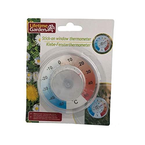 Ø 9cm °C / °F Fensterthermometer Thermometer Aussenthermometer Zimmerthermometer Wetterstation mit Saugnapf