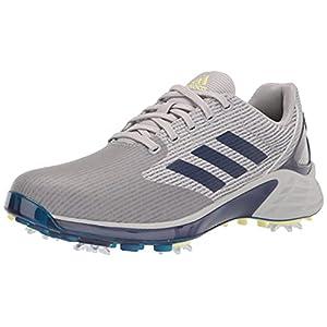 adidas Men's ZG21 Motion Primegreen Golf Shoes, Grey Two/Blue/Pulse Yellow, 11