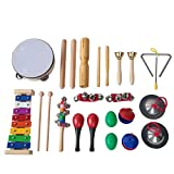 FEBT Juego de Juguetes Musicales para niños, 13 Piezas de Instrumentos Musicales, Juego de Juguetes para niños, para niños, Preescolar, Educativo, Regalo para niños