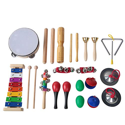 banapoy Musical Instruments Kids Toy Set, Safe and Durable Kids Musical Set Toys, Children Toy Set 13Pcs for Children Kid Gift kids Preschool Educational