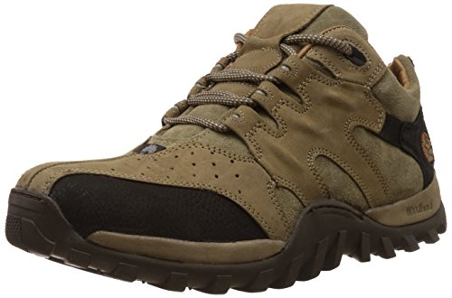 Woodland Men's Khaki Leather Sneakers - 8 UK/India (42 EU)-(GC 0232106Y15)
